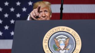 El presidente Donald Trump durante un encuentro de Petroquímicas en Pensilvania. 13 de agosto de 2019.