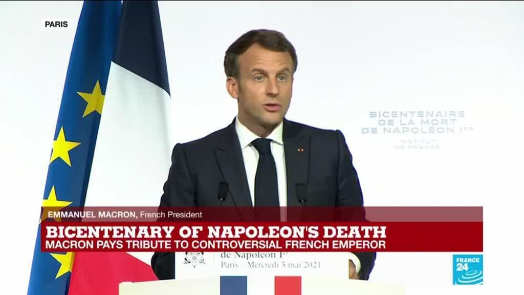 2021-05-05 16:51 REPLAY - Bicentenary of Napoleon's death: Macron pays tribute to controversial French emperor