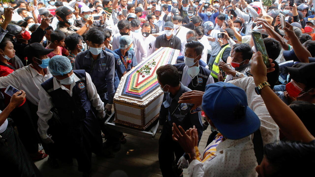 UN condemns lethal crackdown on Myanmar protests as mourners bury first victim
