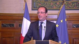 François Hollande à Tulle, le 6 avril 2013