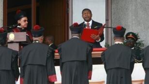 Le président angolais João Lourenço lors de son investiture à Luanda, le 26 septembre 2017.