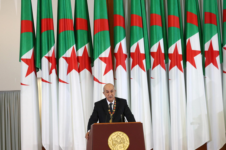 Algerian President Abdelmadjid Tebboune on December 19, 2019, in Algiers.