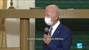 2020-09-04 10:03 Joe Biden en visite à Kenosha, se présente en rassembleur de l'Amérique face au racisme