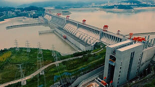 China's Three Gorges Dam, a controversial hydroelectric monstrosity.