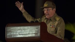 السكريتير الأول للحزب الشيوعي الكوبي راؤول كاسترو.