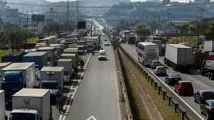 Road blockades across Brazil curtailed supplies of fuel to airports and gas stations, and of food to markets