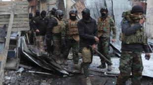 قوات الأمن العراقية خلال الاحتجاجات المناهضة للحكومة