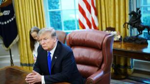 Donalrd Trump, le 22 février, dans le Bureau ovale de la Maison blanche.