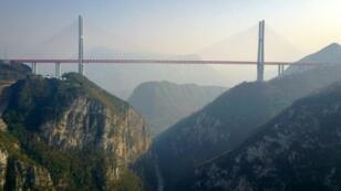 جسر بيبانجيانغ قرب بيجيي جنوب غرب الصين في 28 كانون الأول/ديسمبر 2016