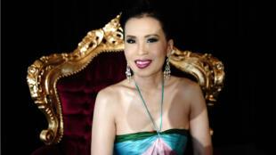 La princesse Ubolratana à Cannes en mai2008.
