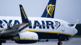 Des avions de la compagnie Ryanair, à l'aéroport Weeze, dans l'ouest de l'Allemagne, le 12 septembre 2018.