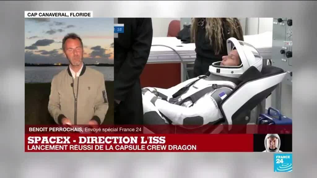 2021-04-23 12:18 Mission Alpha : Thomas Pesquet en route vers l'ISS à bord de la capsule Crew Dragon