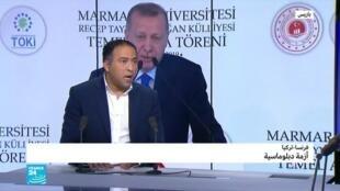 """2019-11-29 18:07 أردوغان يقول لماكرون: """"عليك أن تتأكد مما إذا كنت ميت دماغيا""""..لماذا؟"""