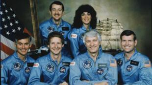 Portrait de l'équipage de la mission 41-D.