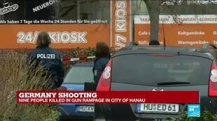 2020-02-20 11:31 Germany shooting: nine people killed in gun rampage in city of Hanau