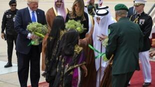 الرئيس الأمريكي دونالد ترامب يصل رفقة زوجته إلى السعودية 20 مايو 2017