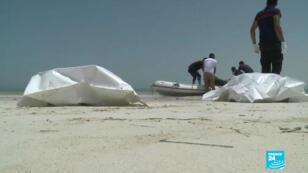 Des corps de migrants ont été retrouvés sur cette plage de la région de Zarzis en Tunisie.