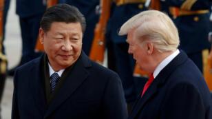 Donald Trump (derecha) y Xi Jinping (izquierda) establecieron un armisticio por 90 días en la guerra arancelaria durante su encuentro en Buenos Aires el 1 de diciembre de 2018