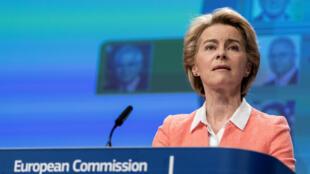 La présidente de la Commission européenne, Ursula von der Leyen, le 10 septembre 2019, à Bruxelles.