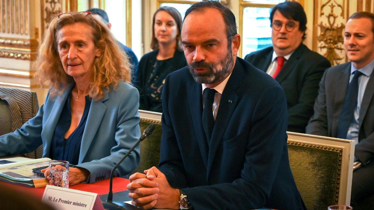 Le Premier ministre Édouard Philippe et la ministre de la Justice Nicole Belloubet à Matignon, le 6 novembre 2019.