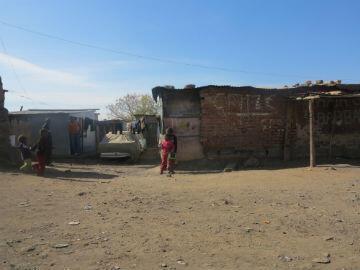 Une des rues du Township de Mamelodi.