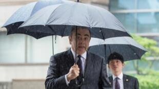 Carlos Ghosn arrivant au tribunal de Tokyo, le 24 juin 2019
