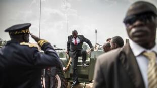 Le président burundais Pierre Nkurunziza arrive aux célébrations de l'indépendance du pays, en mars 2015.