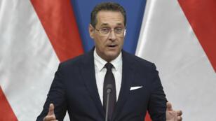 Le vice-chancelier autrichien et chef de l'extrême droite Heinz-Christian Strache, à Budapest le 6mai2019.