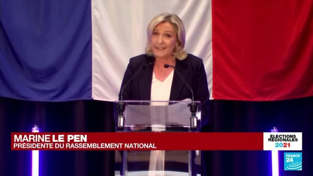 2021-06-20 21:00 REPLAY - Elections régionales en France : discours de Marine Le Pen, présidente du RN
