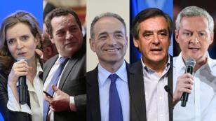 Nathalie Kosciusko Morizet, Jean-Frédéric Poisson, Jean-François Copé, François Fillon, et Bruno Le Maire, candidats à la primaire de la droite, estiment avoir été moins médiatisés que Nicolas Sarkozy et Alain Juppé.