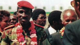"""Photo d'archives extraite du documentaire """"Capitaine Thomas Sankara"""" de Christophe Cupelin"""
