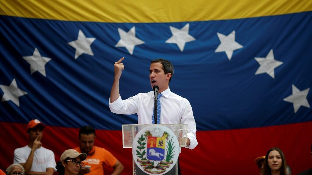 El opositor Juan Guaidó habla durante uno de sus mitines en Caracas, Venezuela, el pasado 30 de septiembre de 2019.