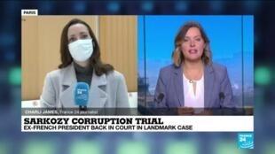 2020-12-07 13:14 Sarkozy corruption trial: Former French President back in court in landmark case