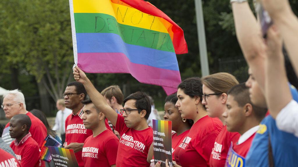 Une manifestation pro-LGBT, à Washington, DC, le 9 septembre 2014.