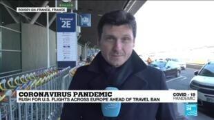 2020-03-13 10:06 Coronavirus Pandemic: Rush for US flights across Europe ahead of travel ban