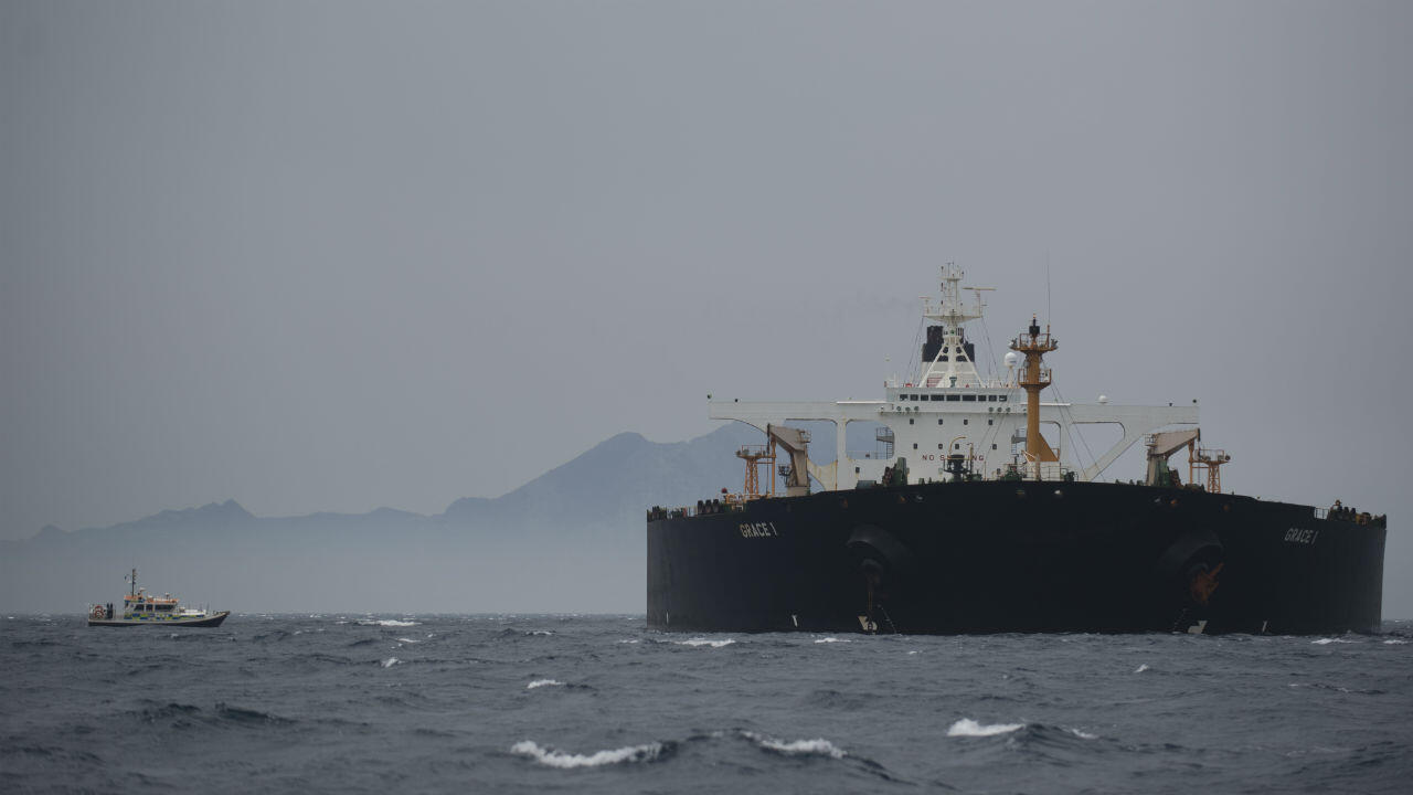 Le pétrolier iranien Grace 1 près des côtes de Gibraltar, le 6 juillet 2019.