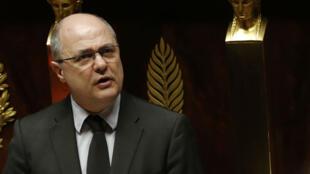 Le ministre de l'Intérieur Bruno Le Roux à l'Assemblée nationale le 22 février 2017.