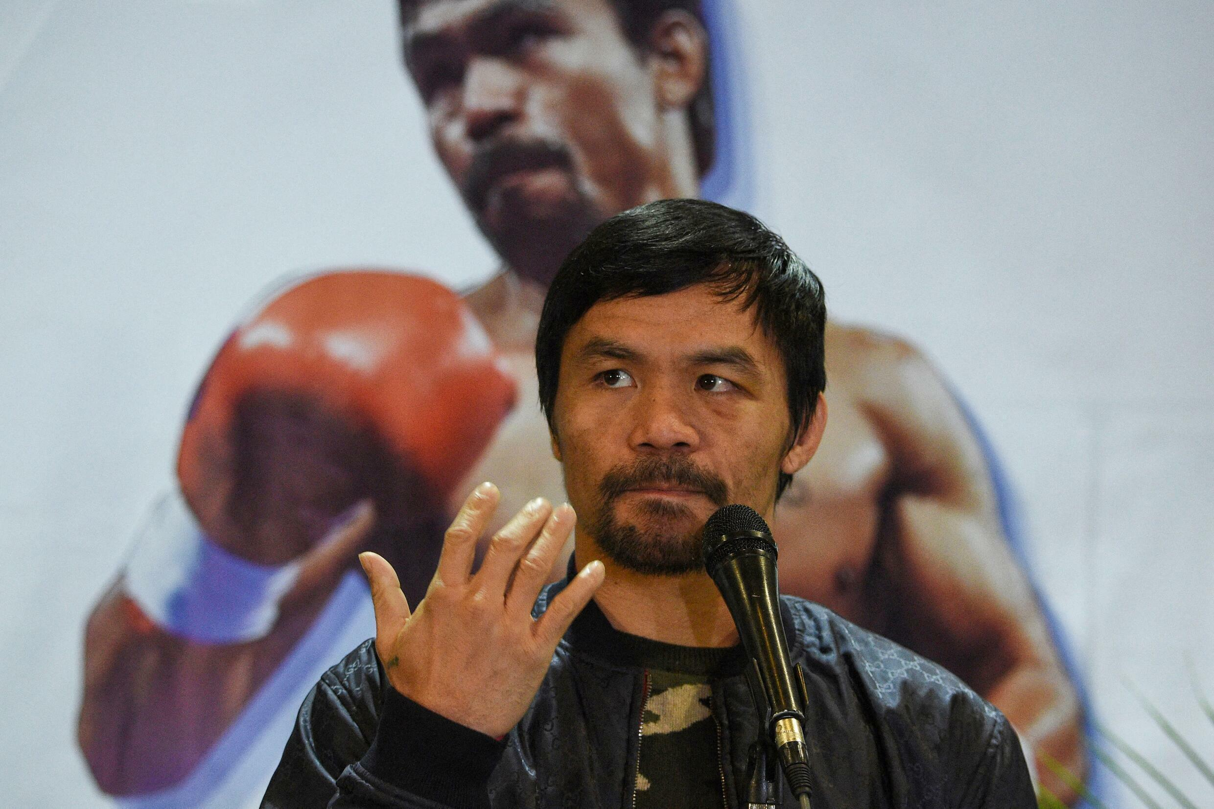 Philippine boxer-turned-politician Manny Pacquiao stepped into the ring for the country's 2022 presidential race