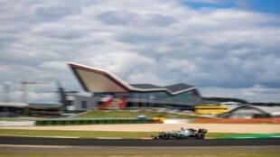 La Mercedes de Lewis Hamilton lors des essais libres de Silverstone, le 12 juillet 2019