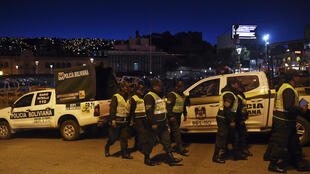 La police bolivienne déployée dans les rues de La Paz le 16 janvier 2020.