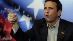Henrique Capriles, leader de la coalition d'opposition.