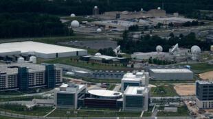 Vue aérienne des locaux de l'agence américaine du renseignement NSA le 25 mai 2020, à Fort Meade (Maryland)