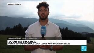 2020-09-17 09:11 Tour de France: Lopez wins toughest stage, Roglic extends overall lead