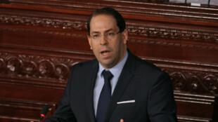 Le chef du gouvernement tunisien Youssef Chahed à Tunis, le 23 mars 2018.