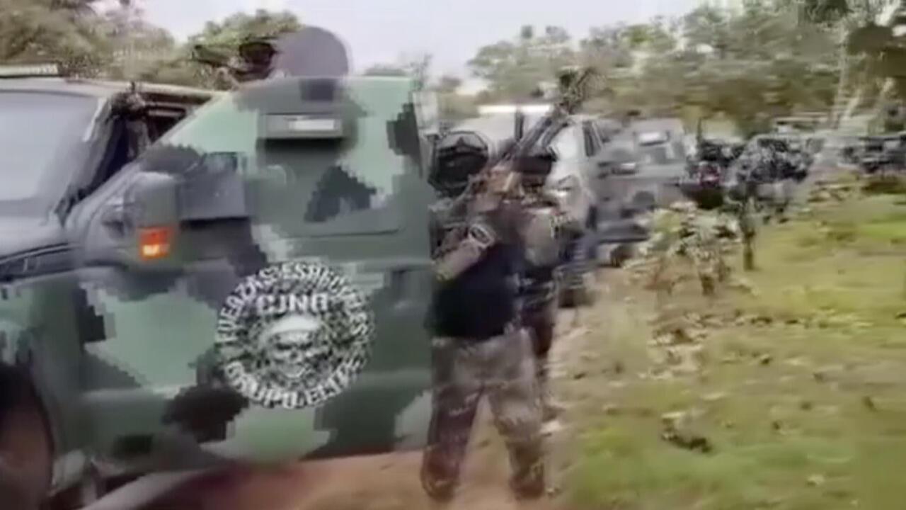 Captura de pantalla del video difundido por el Cartel de Jalisco Nueva Generación en las redes sociales.