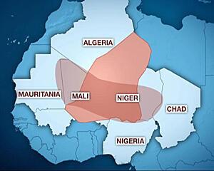 Zone of influence of Al-Qaeda in the Islamic Maghreb