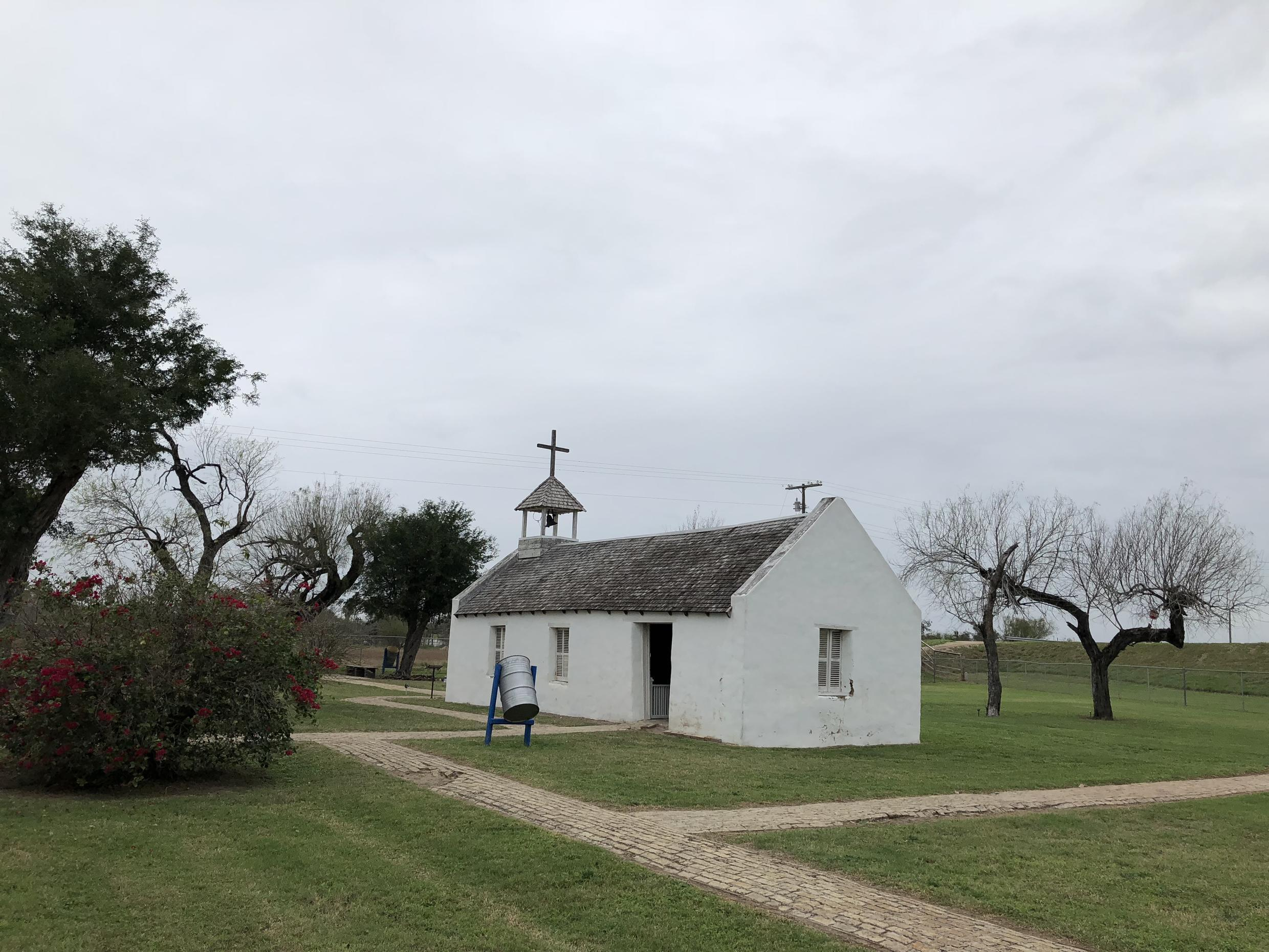 The chapel of Father Roy Snipes in Mission, Texas, lies on the path of the border wall.