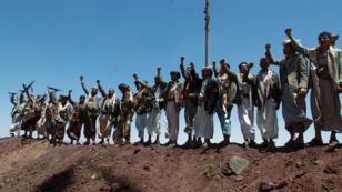 Des rebelles chiites d'Ansaruallah à Sanaa, le 22 septembre.
