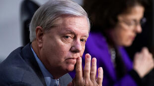 Senate Judiciary Committee Chairman Sen. Lindsey Graham (R-S.C.) attends the Senate Judiciary Committee executive business meeting on Supreme Court justice nominee Amy Coney Barrett in the Hart Senate Office Building in Washington, D.C. on October 15, 2020.