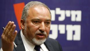 Le ministre de la Défense israélien, Avigdor Lieberman, photographié en avril 2015.